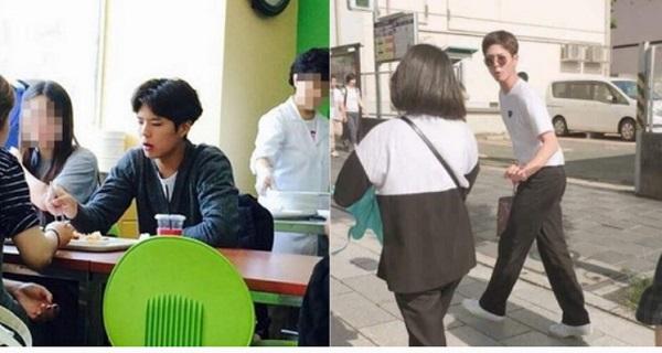 学校の食堂でご飯を食べるパクボゴム、10日ツイッターに掲載されたパクボゴム日本旅行中の写真。[写真オンラインコミュニティ、ツイッター]